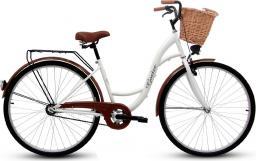 Goetze Rower miejski ECO 28″ biały z wiklinowym koszem