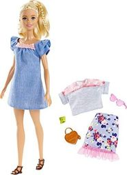 Barbie Fashionistas Modne przyjaciółki zestaw z niebieską spódnicą (FJF67/FRY79)