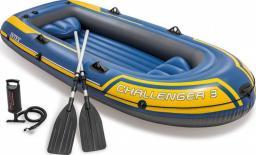 Intex Ponton Challenger 3 set niebiesko-żółty 295x137x43cm (68370NP)