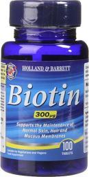 Holland & Barrett Biotyna 300 ug 100 tabl.