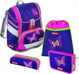 Step by Step Zestaw szkolny 2w1 Shiny Butterfly 4 el.