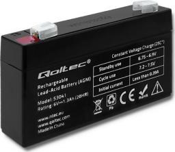 Qoltec Akumulator AGM 6V 1.3Ah max.0.39A