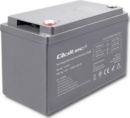 Qoltec Akumulator AGM 12V 100Ah max.30A