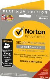 NORTON Security Platinum 10 urządzeń 1 rok