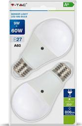 V-TAC Żarówka LED VT-2109 E27 60X112MM 9W 2700K 806LM SMD-SKU7285