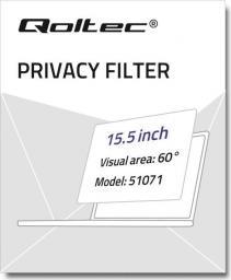 Filtr Qoltec Filtr prywatyzujący RODO do MacBook Pro TouchBar (2016-2018) | 15,5''
