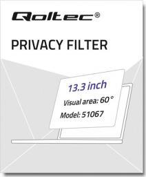 Filtr Qoltec Qoltec Filtr prywatyzujący RODO do MacBook Air | 13.3'' | 16:10