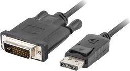 Kabel Lanberg DisplayPort - DVI-D 1.8m czarny (CA-DPDV-10CU-0018-BK)