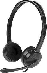 Słuchawki z mikrofonem Natec Canary czarne -NSL-1295