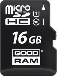 Karta MicroSD GoodRam MicroSDHC 16GB Class 10 UHS-I + Adapter (M1AA-0160R12)