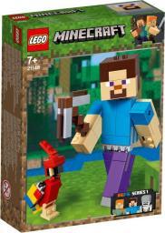 LEGO MINECRAFT BigFig Steve z papugą