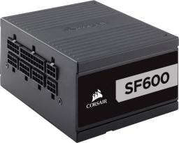 Zasilacz Corsair SF Series SF600 600W, 80 PLUS Platinum, SFX, Modularny