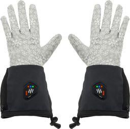 Sunen SUNEN Glovii - Ogrzewane termoaktywne rękawiczki uniwersalne, L-XL, jasnoszare