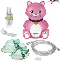 ProMedix PR-816 Inhalator dla dzieci kot, zestaw Nebulizator, maski, filterki