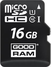 Karta GoodRam MicroSDHC 16 GB Class 10 UHS-I/U1  (M1A0-0160R12                   )