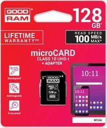 Karta GoodRam MicroSDXC 128GB Class 10 (M1AA-1280R12)