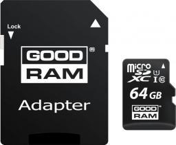 Karta GoodRam MicroSDXC (M1AA-0640R12) (64GB Class 10  + adapter)