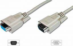 Kabel Assmann D-Sub (VGA) - D-Sub (VGA) 1.8m biały (AK-310200-018-E)