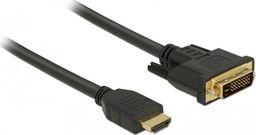 Kabel Delock HDMI - DVI-D 0.5m czarny (85651)