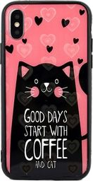 Beline Etui Hearts iPhone X/Xs wzór 6 (cat pink)