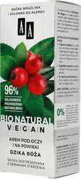 AA Krem pod oczy Bio Natural Vegan Dzika Róża rozświetlający 15ml