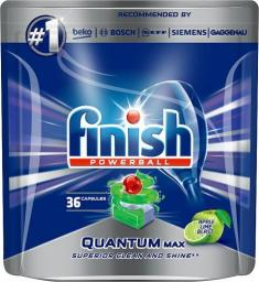 Finish Powerball Quantum Max Apple Lime Blast tabletki do mycia naczyń w zmywarkach 36szt