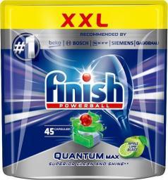 Finish Powerball Quantum Max Apple Lime Blast tabletki do mycia naczyń w zmywarkach 45szt
