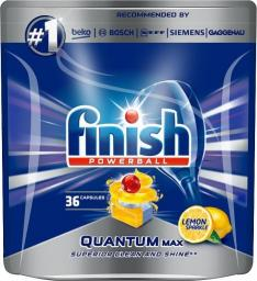 Finish Powerball Quantum Max Lemon Sparkle tabletki do mycia naczyń w zmywarkach 36szt