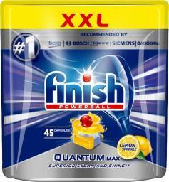 Finish Powerball Quantum Max Lemon Sparkle tabletki do mycia naczyń w zmywarkach 45szt
