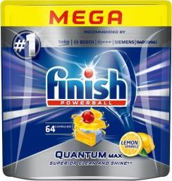 Finish Powerball Quantum Max Lemon Sparkle tabletki do mycia naczyń w zmywarkach 64szt