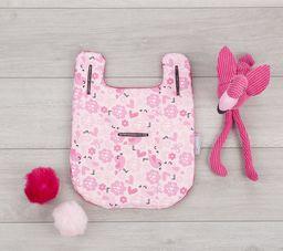 CuddleCo Wkładka do wózka Comfi-Cush Mini - Kwiaty i Ptaszki - różowe