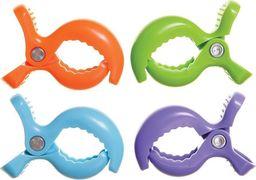 Dreambaby Klipsy do wózka - mix (niebieski, pomarańczowy, zielony, fioletowy)