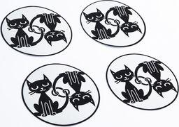 Pogu Odblaskowe naklejki na koła wózka - Koty
