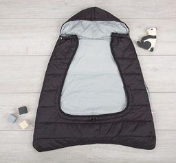 CuddleCo Śpiworek na nosidełko/okrycie na nóżki 2w1 Comfi-Cape - czarny/szary