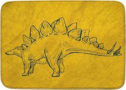 Achoka Dywan dla dzieci ultra miękki 100x150 Dinozaur Stegozaur - żółty