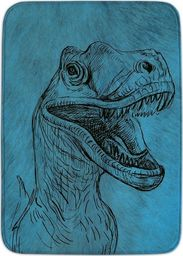 Achoka Dywan dla dzieci ultra miękki 100x150 Dinozaur Tyranozaur - niebieski