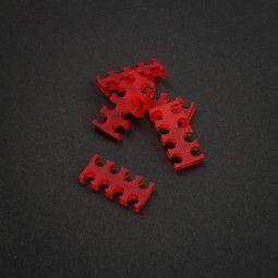 King Mod Services Grzebień kabla 8-Slot 4mm - Czerwony - Zestaw 5 sztuk
