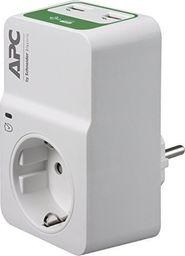 Listwa zasilająca APC Essential przeciwprzepięciowa 1 gniazdo 2xUSB biały (PM1WU2-GR)