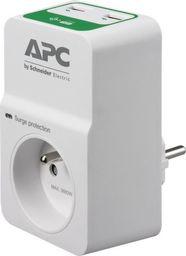 Listwa zasilająca APC Essential przeciwprzepięciowa 1 gniazdo 2xUSB biały (PM1WU2-FR)