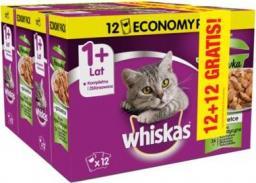 Whiskas Rybna Potrawka w galaretce saszetki 24x85g (12+12 gratis)