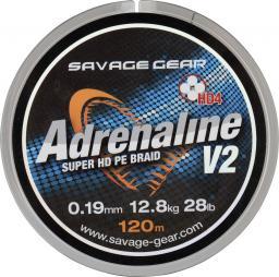 Savage Gear HD4 Adrenaline V2 120m 0.19mm 28lbs 12.8kg Grey (54830)