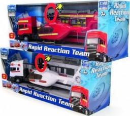 Teama Auto Tir Scania + helikopter 1:48 czerwony (001-21702)