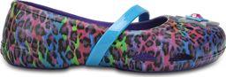 Crocs Balerinki dziecięce Lina Graphic Flat niebiesko-fioletowe r. 19-20