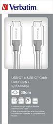 Kabel USB Verbatim KABEL USB-C M/M 3.1 GEN 2 0.3M SREBRNY VERBATIM