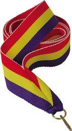 Victoria Sport Wstążka 11 mm - czerwono-żółto-niebieska