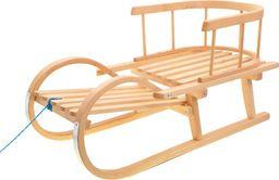 Victoria Sport Sanki drewniane z oparciem Bobas beżowe