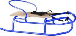 Victoria Sport Sanki metalowe Tomek z oparciem niebieskie