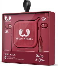Słuchawki Fresh n Rebel FRESH 'N REBEL ZESTAW NA PREZENT SŁUCH. VIBE WIRELESS I GŁOŚ. PEBBLE RUBY