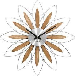 Lavvu Zegar ścienny z kryształkami, średnica 49,5 cm uniwersalny