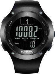sunroad Fishing WatSunroad Fishing Watch - Aktywny zegarek rekreacyjny i wędkarski ze zintegrowanym czujnikiem ciśnienia i temperatury SWISS.  Można zapisać do 6 stref połowowych - rejestrowane jest ciśnienie powietrza, temperatura i głębokość wody.  Ekr